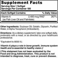 Vitamin A 8000 IU